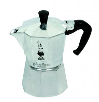 Italienische Kaffeemaschine aus Aluminium für 6 Tassen