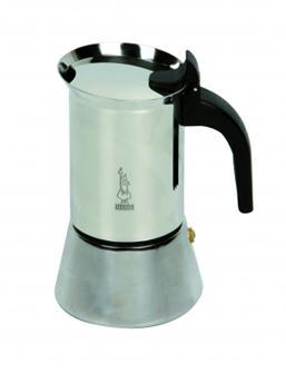 Italienische Kaffeemaschine aus Edelstahl für 6 Tassen