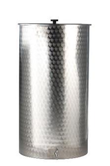 Behälter aus Edelstahl mit einem Fassungsvermögen von 300 Liter.