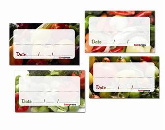 84 Etiketten für Gemüsekonserven