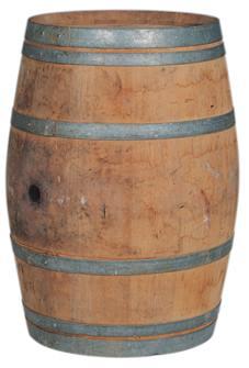 Tonneau chêne d'occasion 225 litres pour décoration