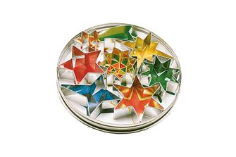 7 Stern-Ausstechformen in einer Dose