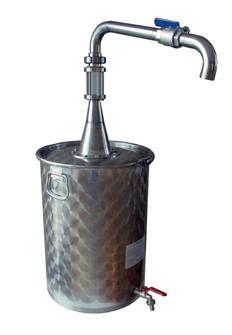 75 Liter Dekanter-Ölfass mit Flüssigkeitsablassventil oben
