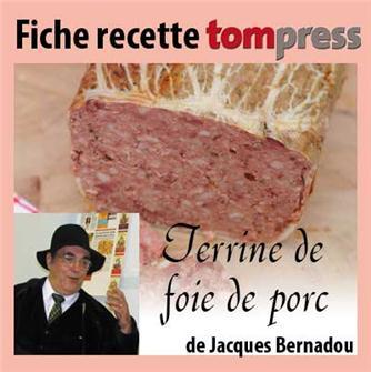 Rezept für Schweineleberpastete von Jacques Bernadou