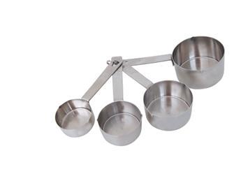 Set mit 4 Messbechern aus Edelstahl