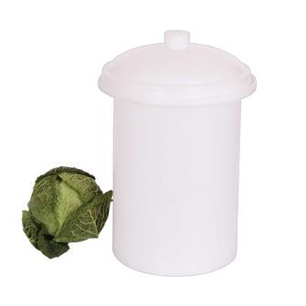 Sauerkrauttopf aus Kunststoff, 15 Liter.
