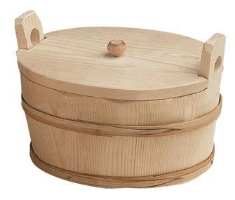 Ovaler Kartoffelkübel mit Deckel, 25x17 cm