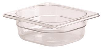 Gastrobehälter BPA-frei, GN1/6, Höhe 6,5cm, aus Copolyester