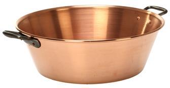 Kochtopf aus Kupfer, 38 cm, Fassungsvermögen 9 Liter