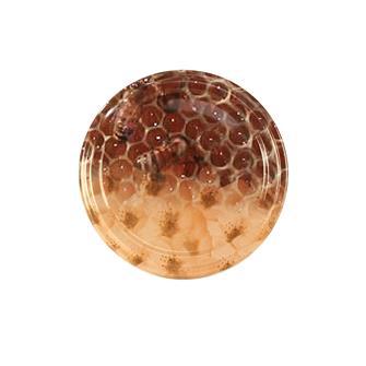 63-mm-Twist-off-Deckel für Honigglas, Waben, Blumen, 10 Stück