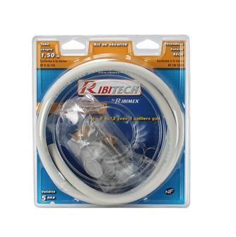 Set Gasschlauch mit Schellen und Butan-Druckminderer