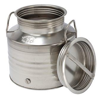 Edelstahlkanister für Öl, 15 Liter