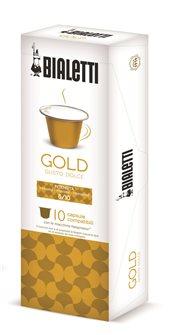 Box mit 10 Kapseln Bialetti Gold geeignet für Nespresso