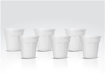 6er Pack Bialetti Tassen weiß
