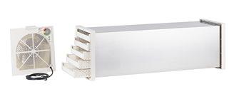 Dörrtunnel aus Edelstahl mit Thermostat und 10 Kunststoffeinsätzen