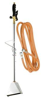 Désherbeur thermique gaz 2,5 bars avec piezzo cloche large et tuyau 5 m