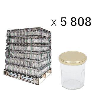 Marmeladegläser 200 g in Palette mit 5808 Stück