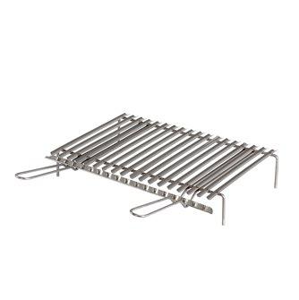 Gril inox barbecue avec récupérateur de graisses de 50x35 cm