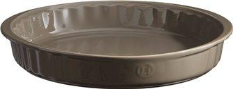 Plat à tarte 28 cm céramique gris Silex Emile Henry