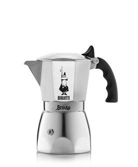 Italienischer Kaffeekocher für cremigen Espresso 4 Tassen