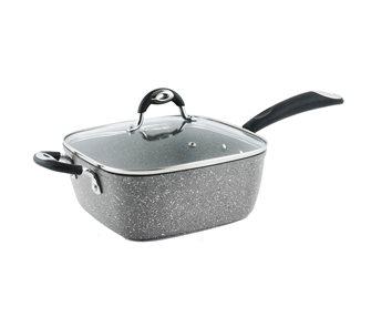 Sauteuse antiadhésive induction carrée 24 cm multifonctions friteuse cuiseur vapeur avec couvercle