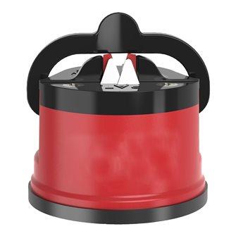 Profi-Messerschleifer mit roter Saughalterung