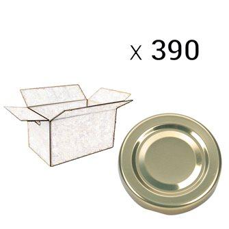 Twist-Off-Deckel Gold 100 mm Durchmesser, Packung mit 390 Stück