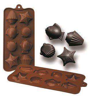 Silikonform für 8 Schokoladefiguren