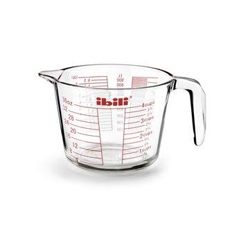 Verre mesureur gradué 1 litre en verre avec anse