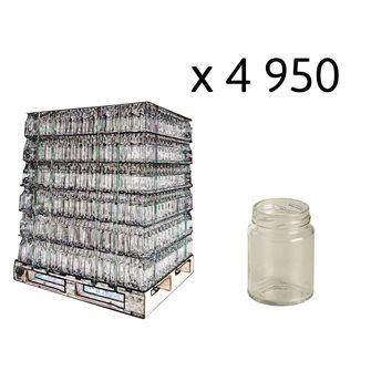 Pots en verre cylindriques 106 ml par palette de 4950