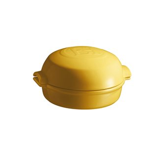 Plat à fromage rôti au four en céramique jaune Provence Emile Henry