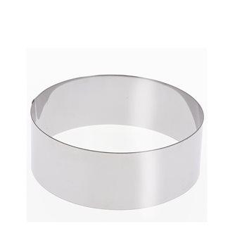 Cercle inox 22 cm haut 6 cm pour vacherin et autres pâtisseries