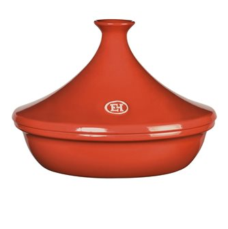 Emile Henry Tajine Keramik ziegelrot 32 cm für 6 bis 10 Personen